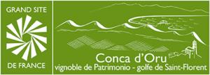 logo Grand site de France Conca d'Oru, Vignoble de Patrimonio–Golfe de Saint-Florent